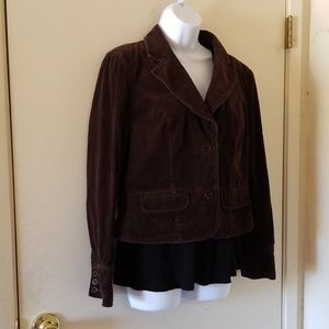 INC brown corduroy blazer sz M